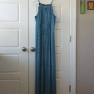 Loft blue maxi dress: medium
